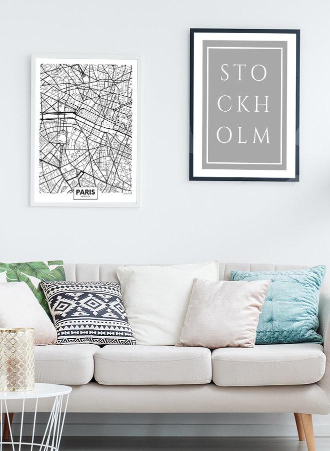 Parijs Map Poster