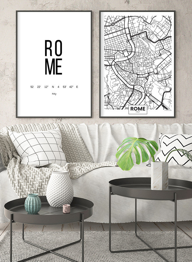 Rome Map Poster