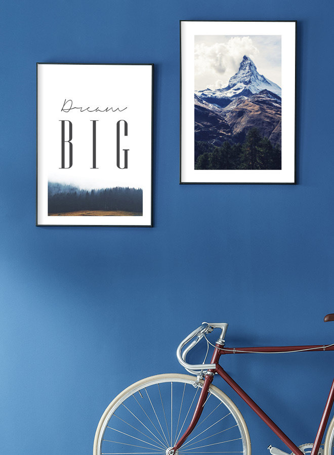 Clouds and Mountain Poster