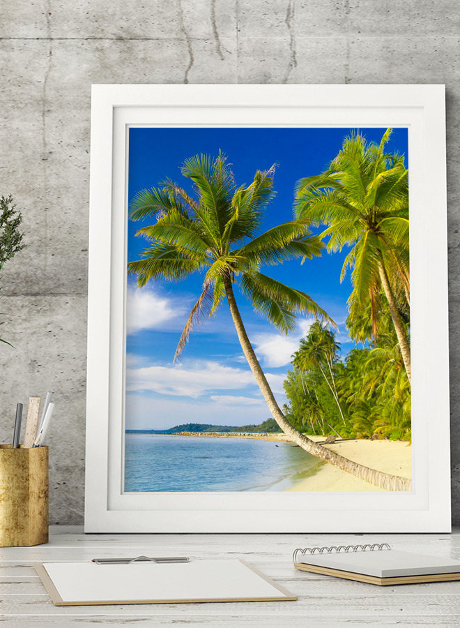 Coastline Palm Poster