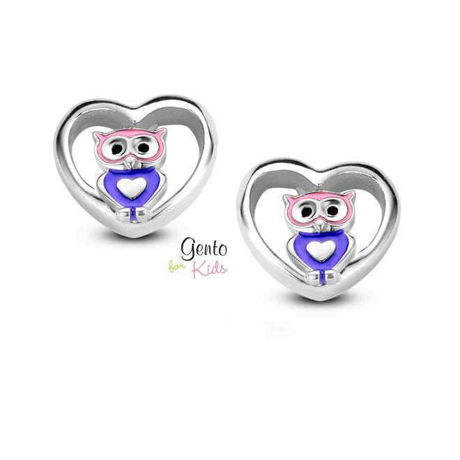 Gento for Kids oorstekers: Uil met hartje