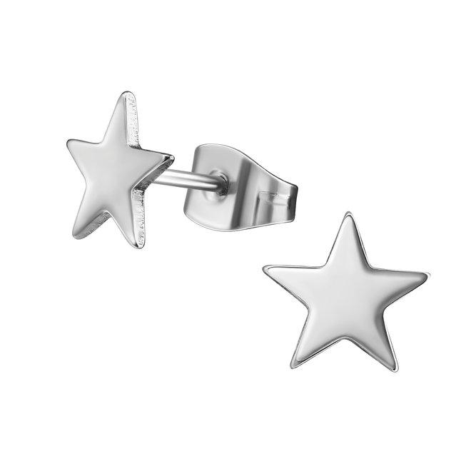 Chirurgisch roestvrij staal kinderoorbellen: Ster