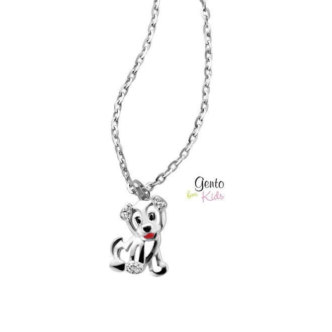 Gento for Kids hanger: Puppy met zirkonia steentjes