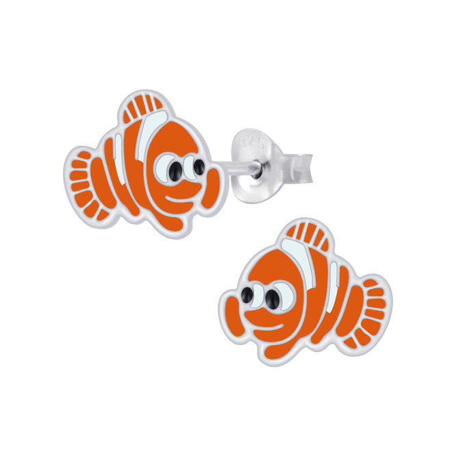 Zilveren kinderoorbellen: Schattige vis
