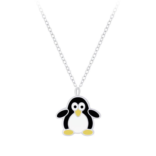 Zilveren hanger: Schattige pinguïn