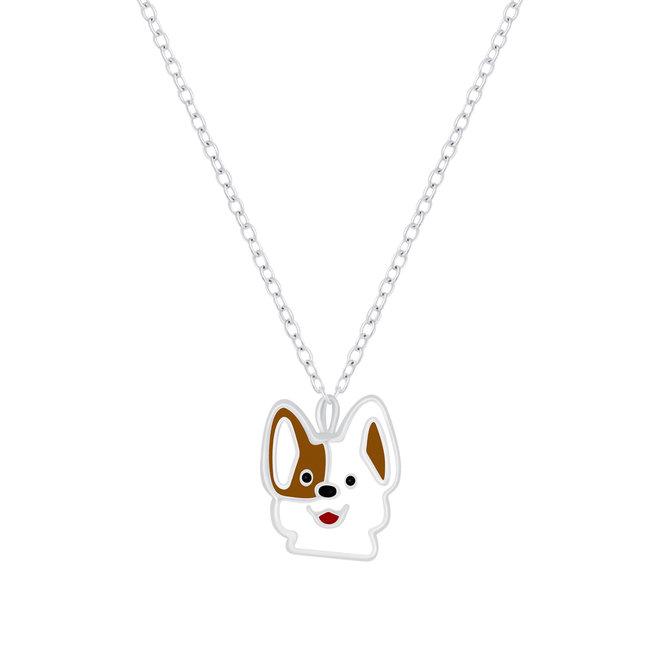 Zilveren hanger: Schattig hondje