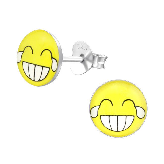 Zilveren kinderoorbellen: Leuke emoji