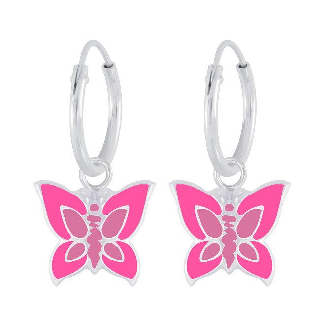 Zilveren kinderoorbellen: Prachtige vlinders