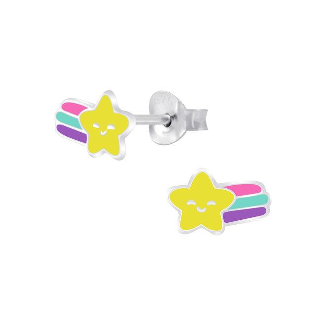 Zilveren kinderoorbellen: Vallende ster