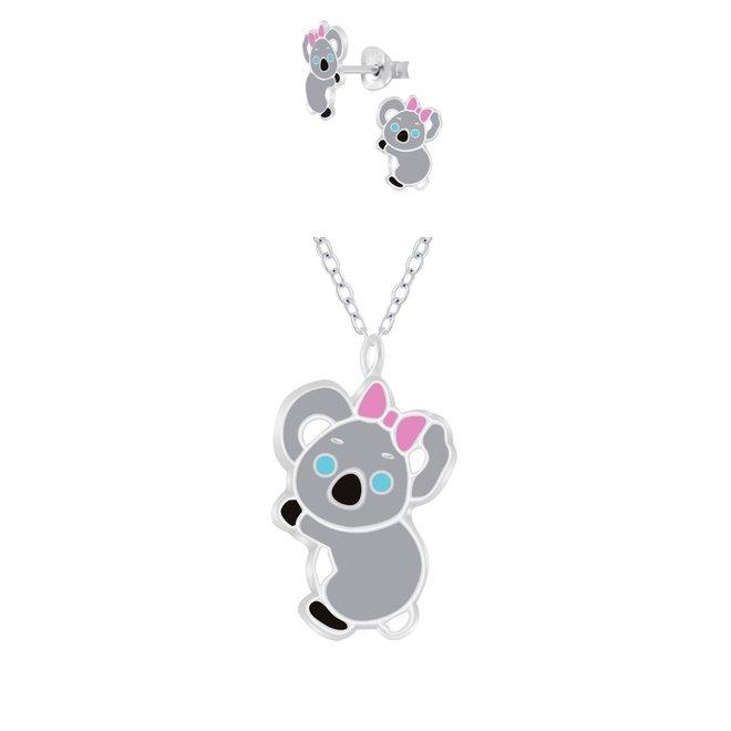 Zilveren kindersieradensetje: Koala