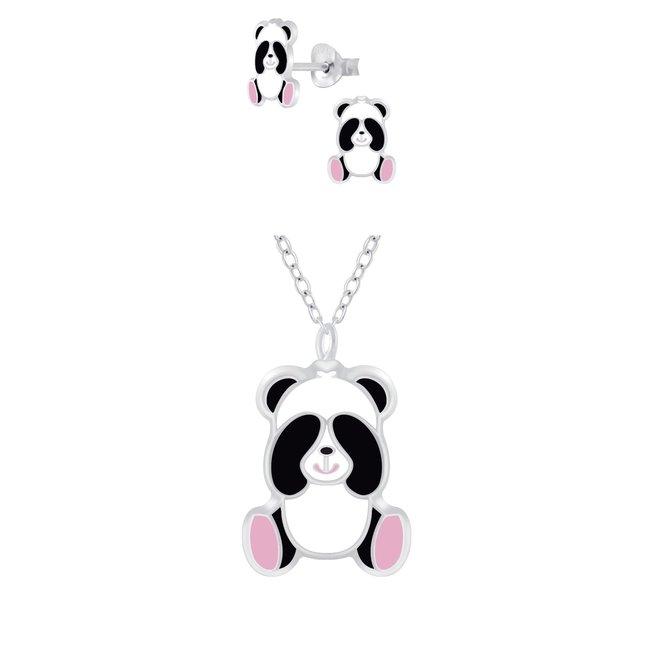 Zilveren kindersieradensetje: Panda