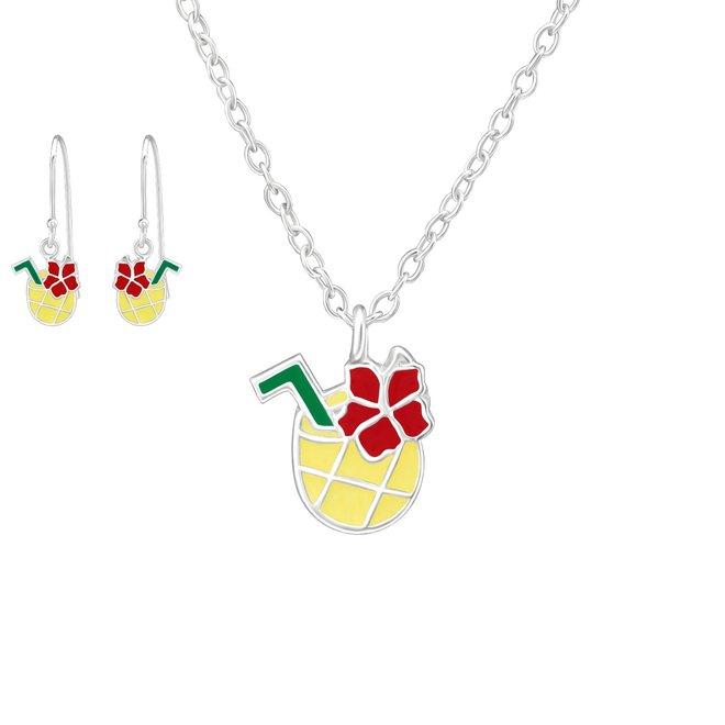 Zilveren kindersieradensetje: Ananas