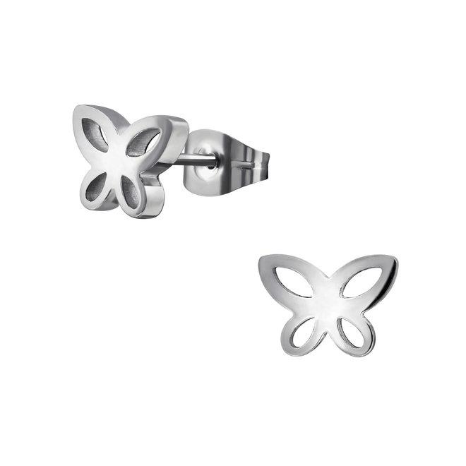 Chirurgisch roestvrij staal kinderoorbellen: Vlinder