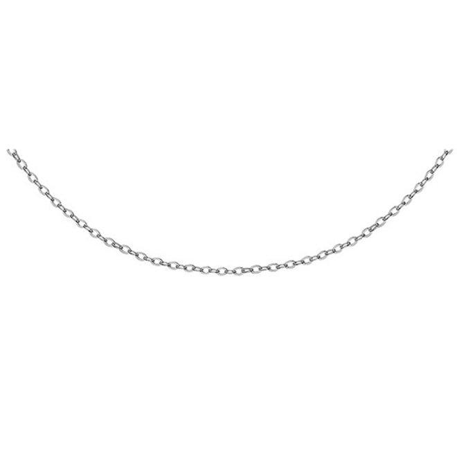 Zilveren halsketting: Ketting gerhodineerd 925 sterling zilver