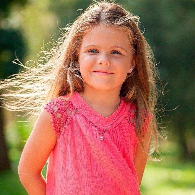 Zilveren kindersieradensetje: Uil oorbellen met schroefsluiting