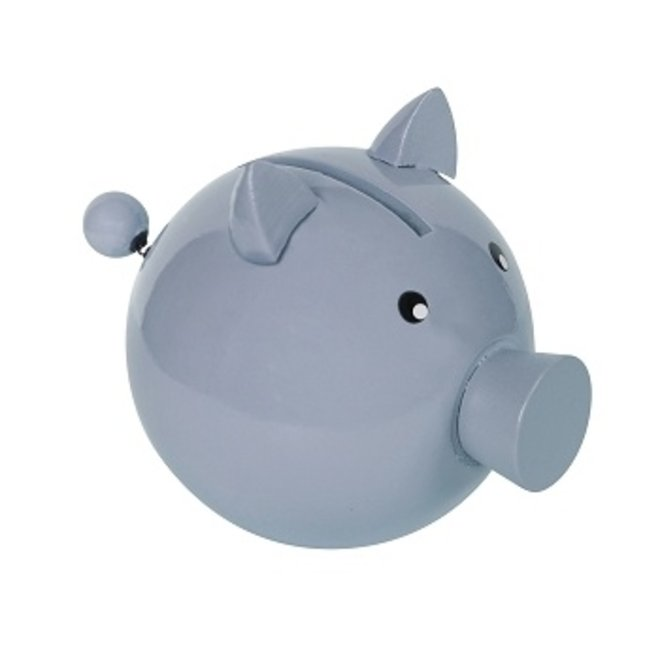 Spaarvarken Trousselier: Spaarvarken gelakt blauw