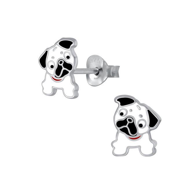 Zilveren kinderoorbellen: Schattig hondje