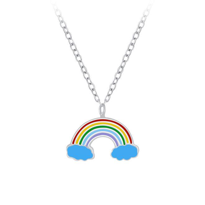 Zilveren hanger: Regenboog