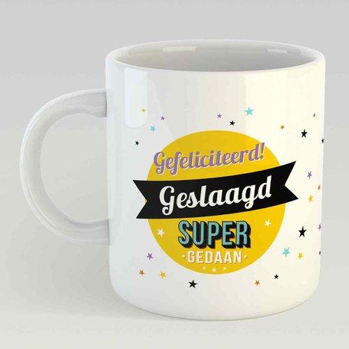 Gefeliciteerd Geslaagd Super gedaan L