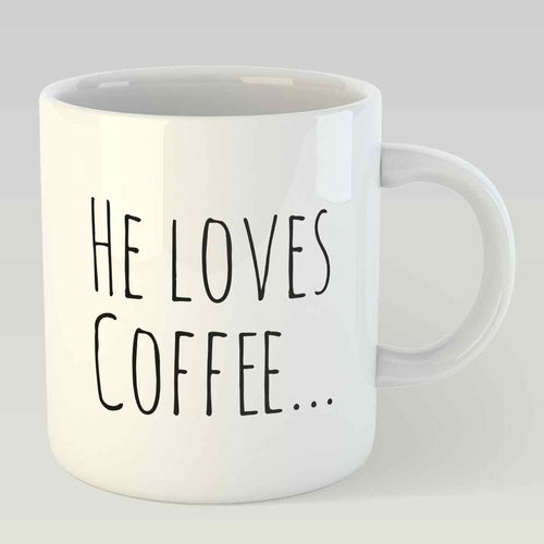 He loves coffee… and she loves him L