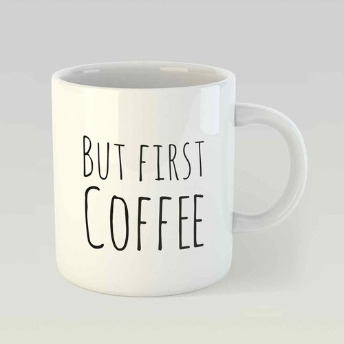 But first coffee M