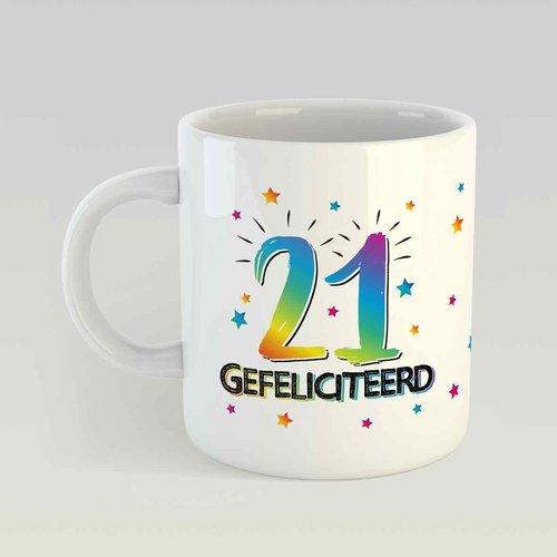 21 gefeliciteerd M