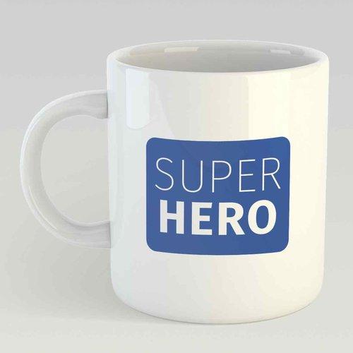 Super hero L blauw