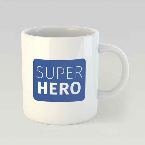 Super hero M blauw
