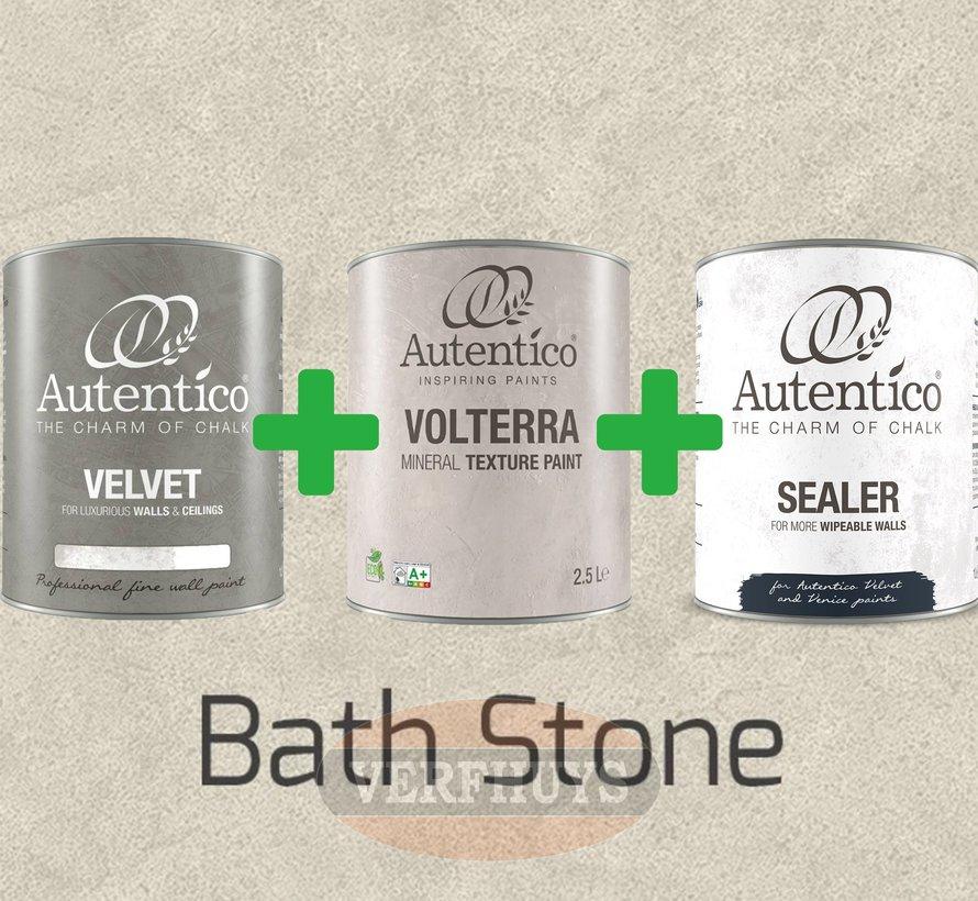 Complete betonlook verfset voor 10m2 - Bath Stone