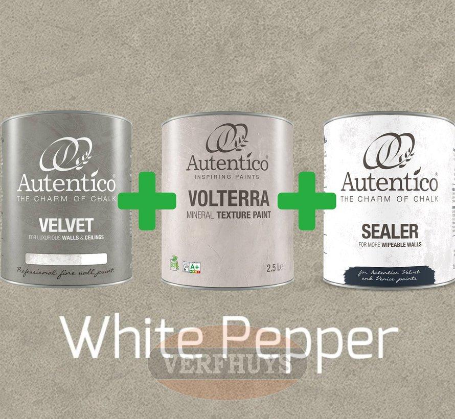 Complete betonlook verfset voor 10m2 - White Pepper