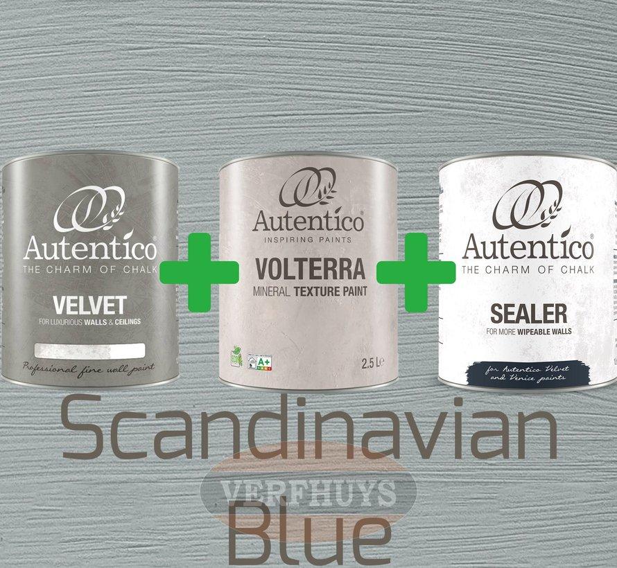 Complete betonlook verfset voor 10m2 - Scandinavian Blue