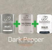 Complete betonlook verfset voor 10m2 - Dark Pepper
