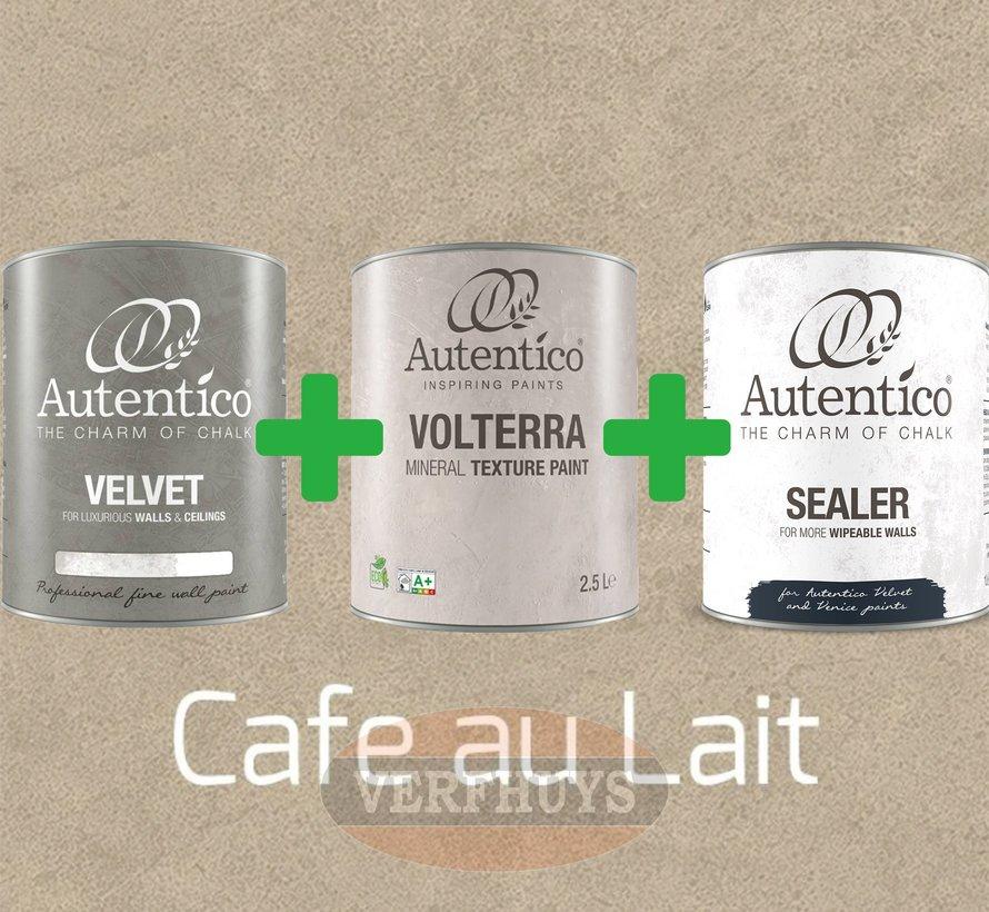 Complete betonlook verfset voor 10m2 - Cafe au Lait