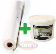 Renostuc / Renovlies Glad - 150 gram - Complete set voor 25m2