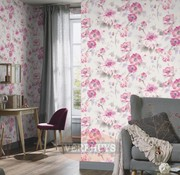 Fashion for Walls behang - Roze bloemen