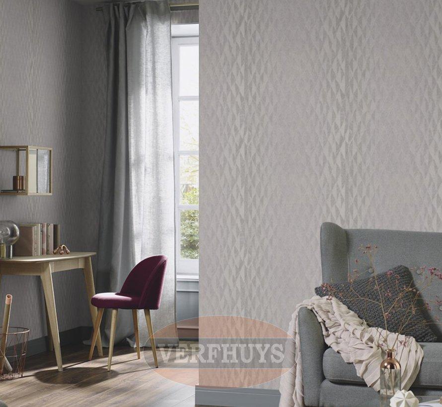 Fashion for Walls behang - Grijs ruiten