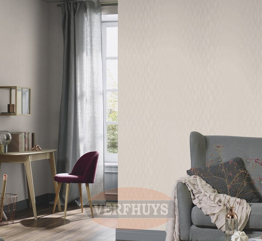 Fashion for Walls behang - Creme ruiten