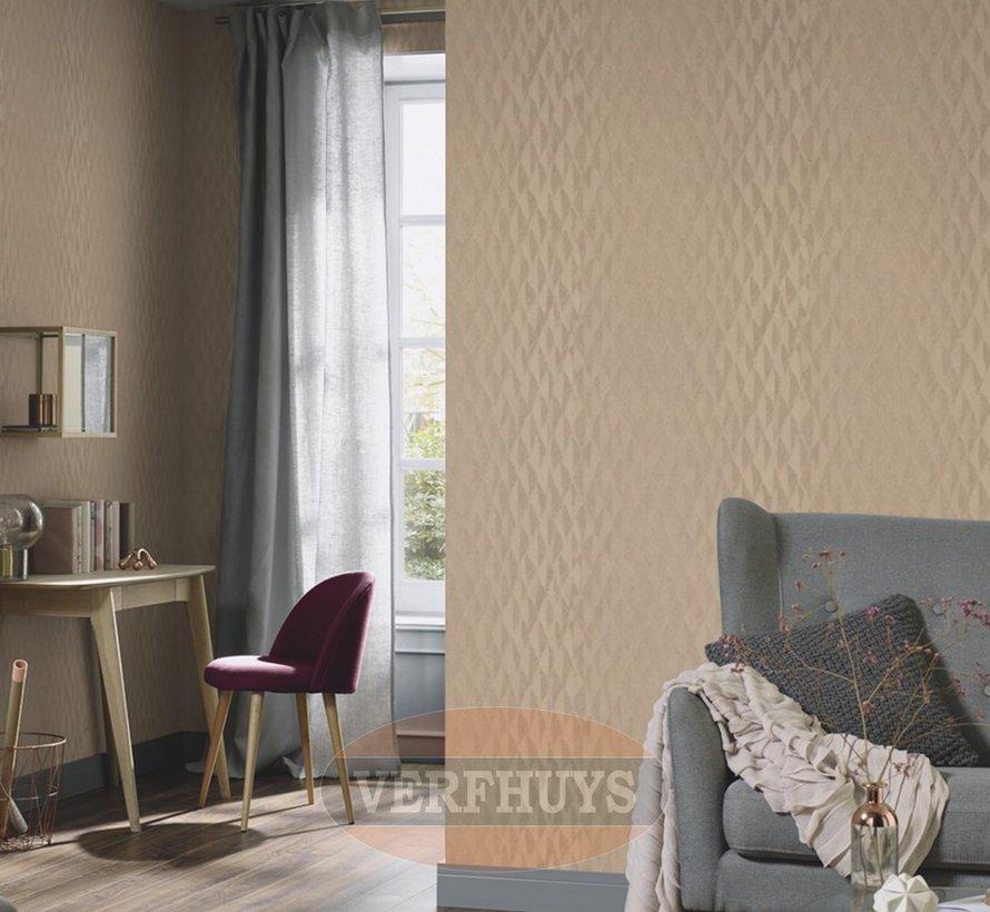 Fashion for Walls behang - Bruin ruiten