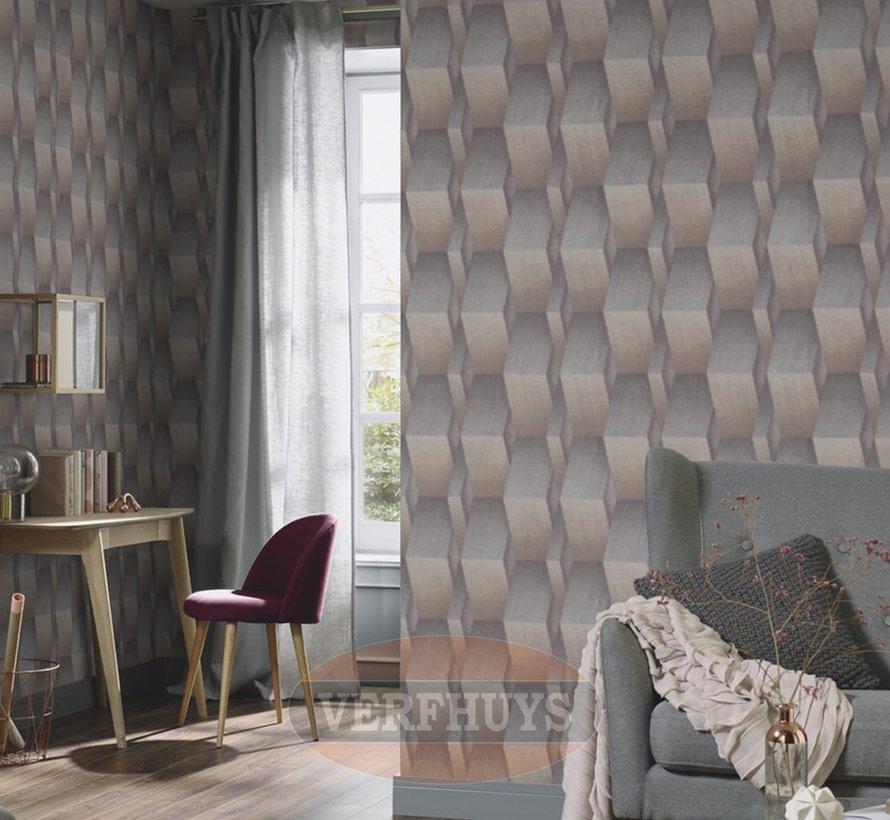 Fashion for Walls behang - Bruin patroon