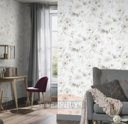 Fashion for Walls behang - Bloemen wit