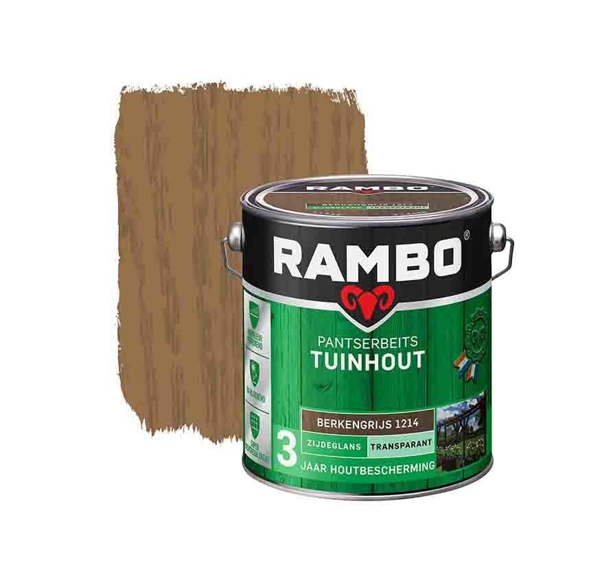 Rambo Pantserbeits Tuinhout Transparant Berkengrijs 1214 - 2,5 Liter