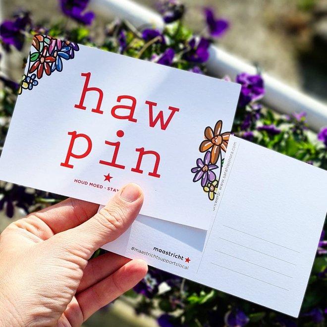 Set van 5 Haw pin ansichtkaarten