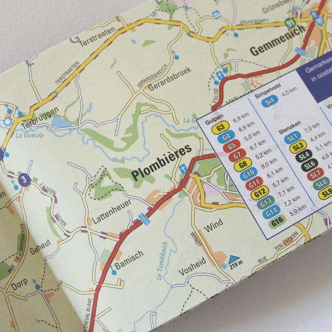Wandelkaart Zuid-Limburg 100 paaltjes route