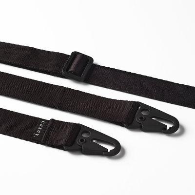 Brede clipband zwart