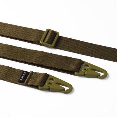 Brede clipband groen