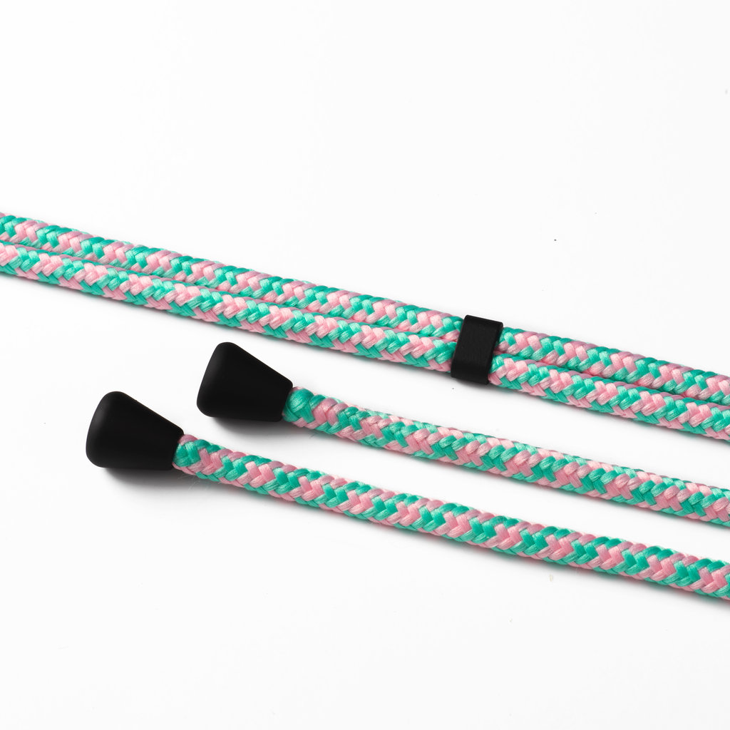 Phone cord camouflage mint