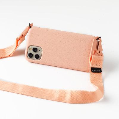 Duurzame roze telefoonholster met clipband
