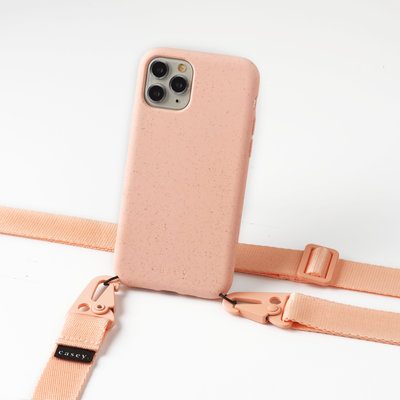 Sustainable pink phonebag case with lanyard