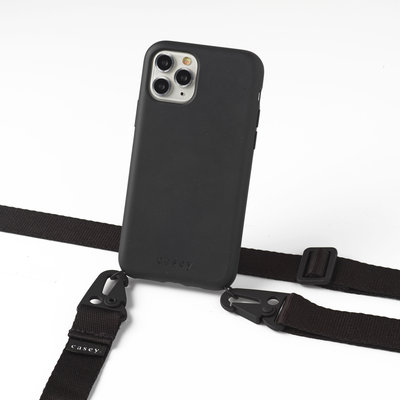 Sustainable black case with lanyard (black)