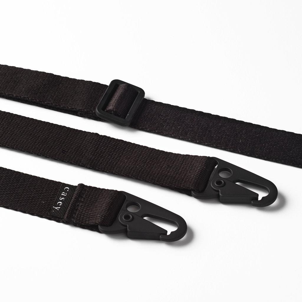 Duurzame telefoontas met band (zwart)